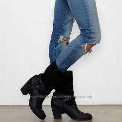 Ботинки нові нубук та замш 36р чорні та коричневі