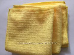 Салфетки из микрофибры 30х30 см, для сухой и влажной уборки
