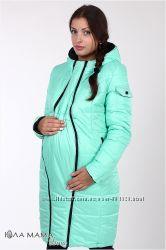 Зимняя куртка для беременных, удлиненная, двухсторонняя. Бесплатная доставк