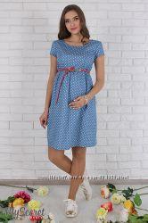 Джинсовое платье для беременных и кормящих мам
