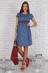 Платье для беременных и кормящих, джинсовое
