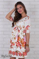 Платье для беременных Даниэлла, с лилиями