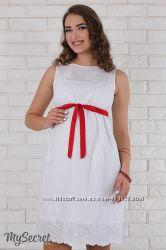 Очень нежный сарафан для беременных Infinity, белый