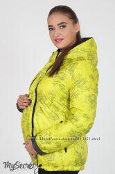 Двухсторонняя куртка для беременных, салатовая