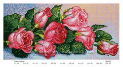 Схема для полной вышивки бисером Розы
