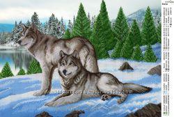 Схема для вышивки исером Волки