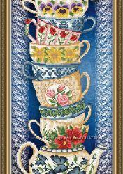 схема для вышивки бисером чашки