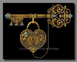 Схема для вышивки бисером Ключ счастья