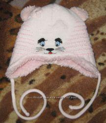 теплые шапочки на малышку