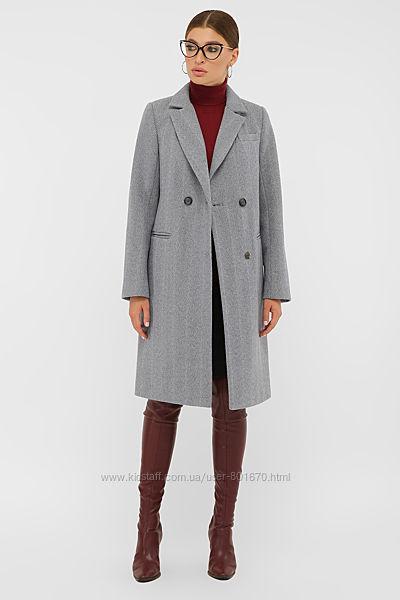 Пальто деми с прорезными карманами
