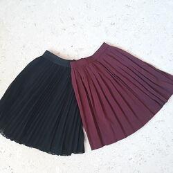 Плессированая шифоновая юбка ф-мы H&M, Terranova р. 152-158-164