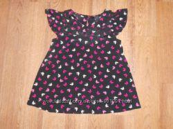 Шикарная блуза с бабочками как новая. GEORGE 6-7 лет 116-122 см рост