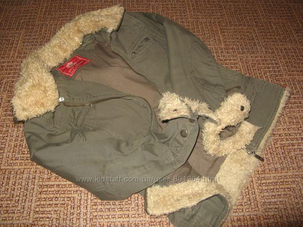 Крутая куртка парка хаки