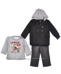 Комплект Calvin Klein пальто, футболка, джинсы на мальчика 1-1, 5 года