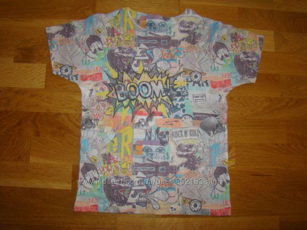 Фирменные футболки, регланы Next и др. на 7-8 лет р. 122-128 см