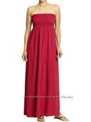 Макси платье, красный сарафан OLD NAVY