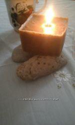 Восковая свеча с шалфеем.