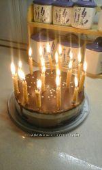 Натуральные свечи День рождения.