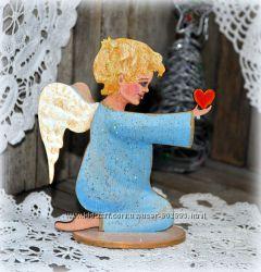 Новогодние игрушки Ангелочки. Роспись. Hand made.