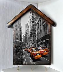 Ключница Нью-Йорк, декупаж