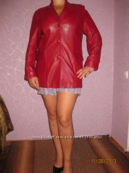Пиджак - куртка кожаная