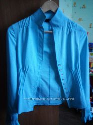 Коттоновая блуза в отличном состоянии, р. 42