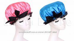 Атласная шапочка для душа, 3 вида