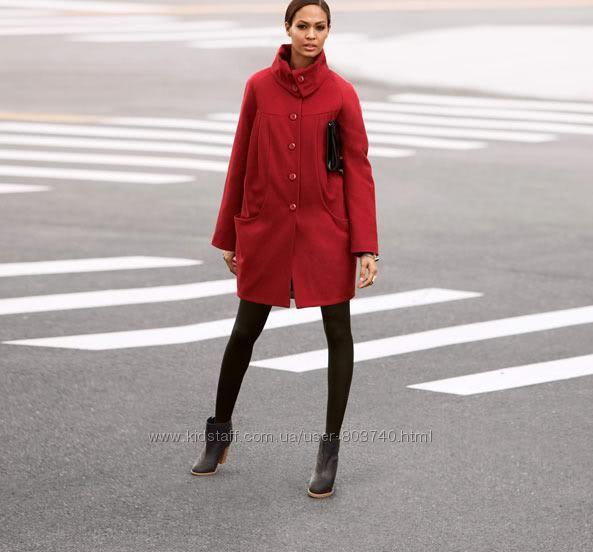 Теплое шерстяное пальто кокон H&M