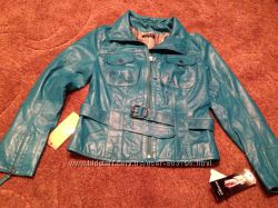 Новая кожаная куртка р. М цену снизила
