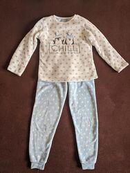 Пижама Примарк очень теплая 8-9 лет 134