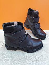 Кожаные зимние ботинки Polipeys 33р 360