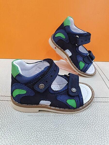 Кожаные сандалии Pinky 21-25р Ортопед 329-B