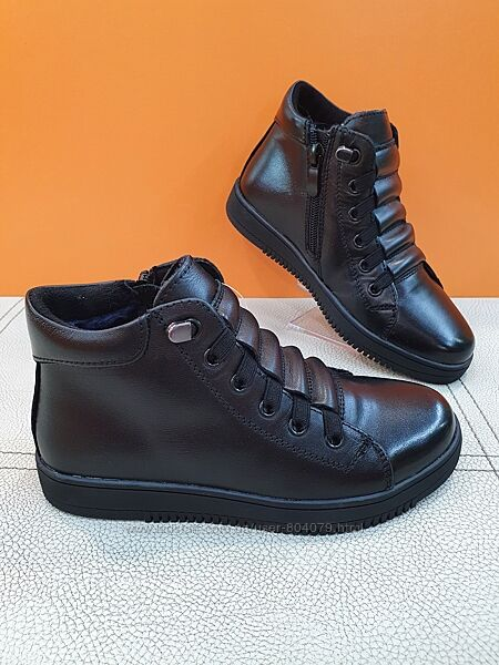 Кожаные зимние ботинки KangFu 31-36р T593
