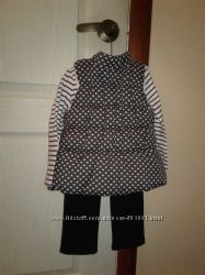 Фирменный костюм тройка на девочку Nannette 3Tжилетка, реглан, брючки