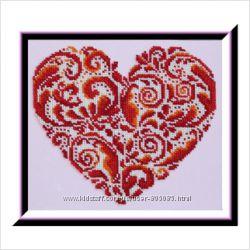 Кружевное сердце - Набор для вышивания бисером