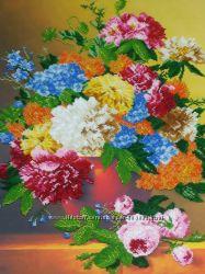 Осенние цветы - набор для вышивания бисером