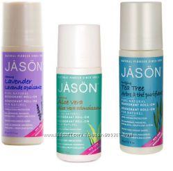 Шариковые натуральные дезодоранты алоэ, чайное дерево, лаванда Jason США