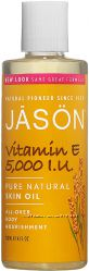Косметические масла с витамином Е 5000, 14000, 45000 МЕ Jason США