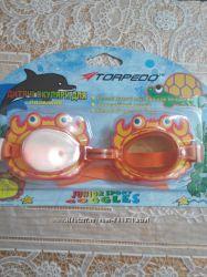очки для плавания TORPEDO качественные линзы
