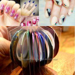 Лента на клейкой основе для дизайна ногтей