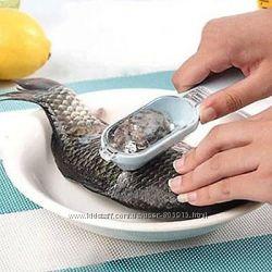 Удобный инструмент для чистки чешуи рыбы