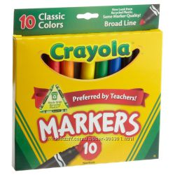 Crayola 10ct Classic Broad Line Markers Classic Fine Line Markers Крайола