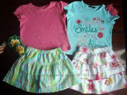 1, 5-2, 5 лет, Яркие комплекты на лето футболка  юбка
