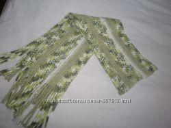 длинный красивый женский шарф 220 см на 25 см  обмен