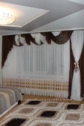 Ламбрекен шифоновый со шторой 3м 126