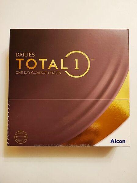 Одноденні контактні лінзи Alcon Контактные линзы  Dailies Total 1 90 штук