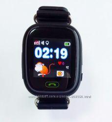 Детские умные часы c gps q90 q100 черные
