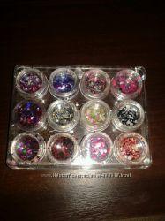 Капитошки конфетти для дизайна ногтей