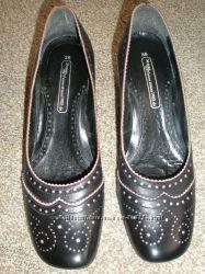 Кожанные женские туфли. Состояние идеальное. Германия.