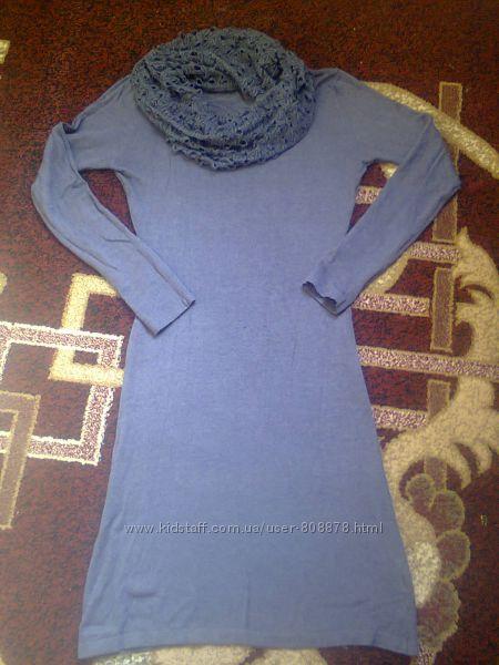 Очень классное трикотажное платье 46-48 размера